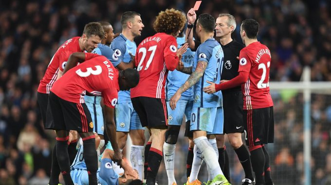 Manchester City-Manchester United Premier League 7 April 2018