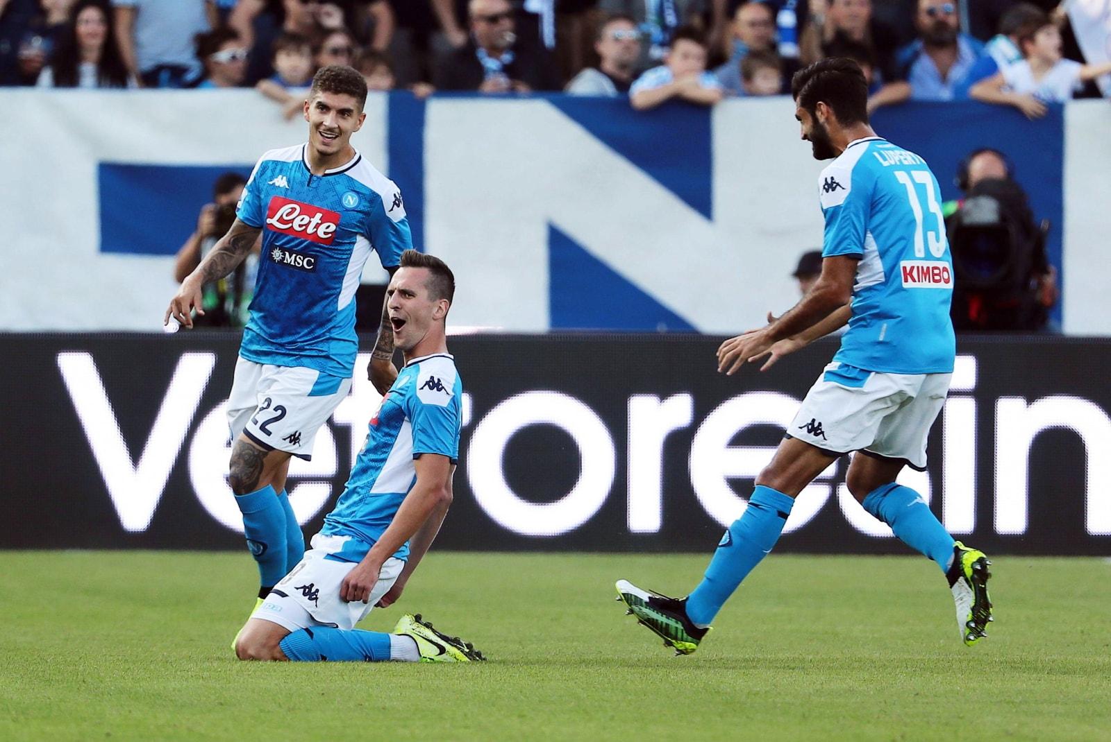 Napoli, il dominio nel primo tempo contro l'Atalanta: 9 ...  |Napoli- Atalanta